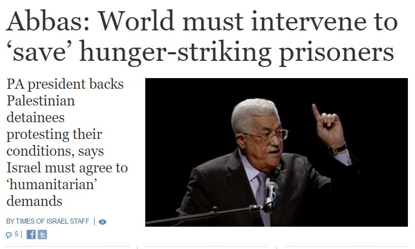 http://www.timesofisrael.com/abbas-world-must-intervene-to-save-hunger-striking-prisoners/