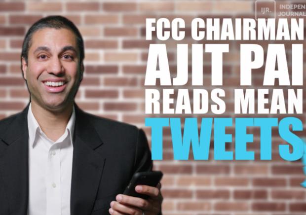 http://ijr.com/2017/05/871504-fcc-chairman-ajit-pai-reads-troll-tweets/