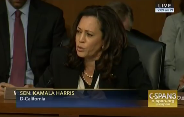 Sen. Kamala Harris cracks disturbing Trump joke on Ellen