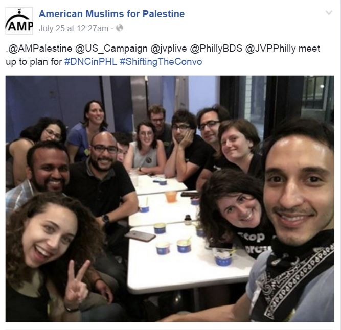 DNC 2016 American Muslims for Palestine FB w JVP Organizing