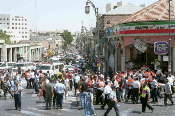 Sbarro minutes after the bombing | Credit: Times of Israel