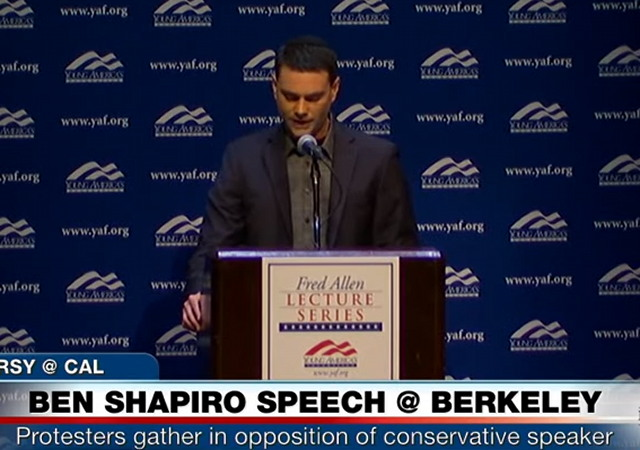 Image result for ben shapiro speacks at berkeley