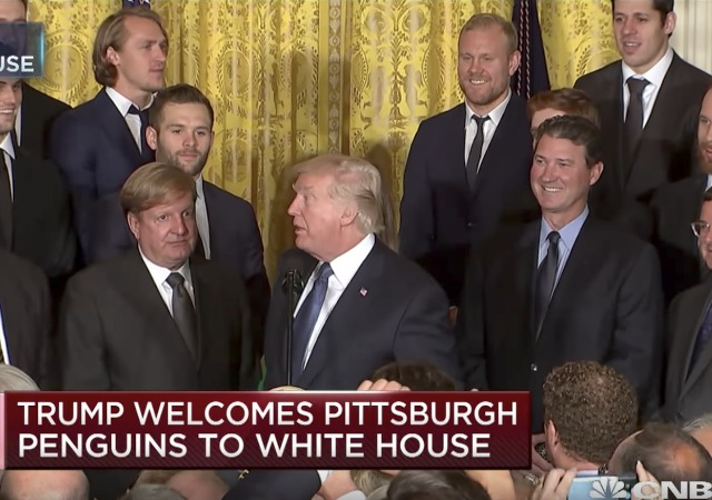 Stanley Cup Champions Pittsburgh Penguins Visit White House, Face Leftist Rage