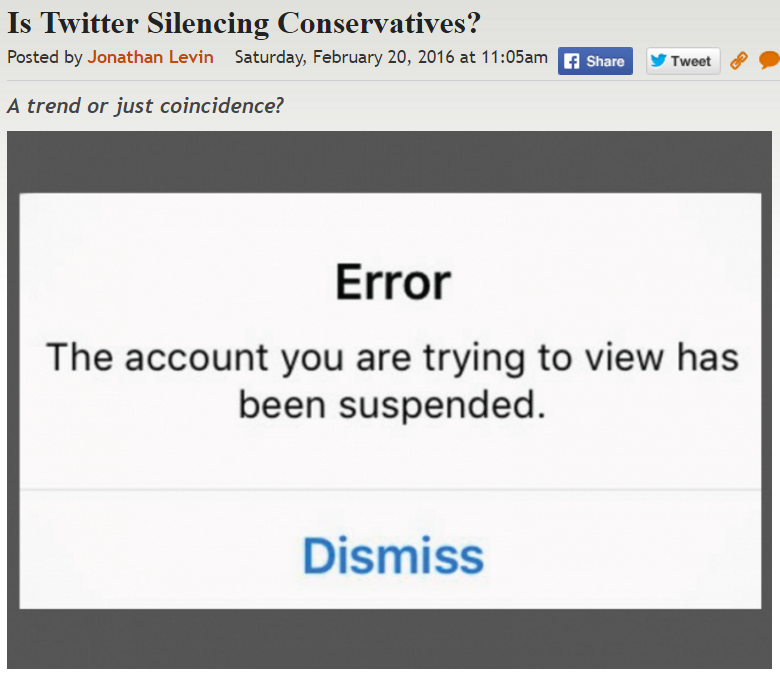 http://legalinsurrection.com/2016/02/is-twitter-silencing-conservatives/