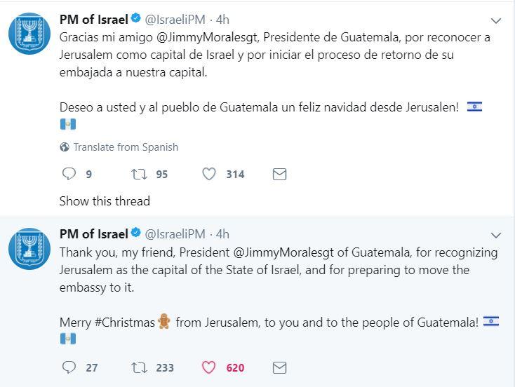 https://twitter.com/IsraeliPM/status/945323369825742849