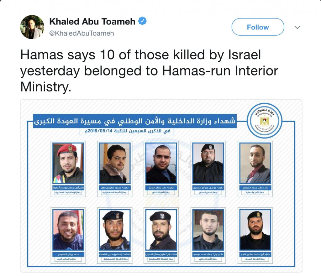 https://twitter.com/KhaledAbuToameh/status/996362117547773952