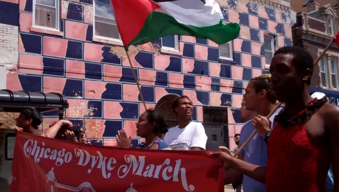 """Jewish Voice for Peace-Chicago sides with """"Dyke March ...March For Peace Chicago"""