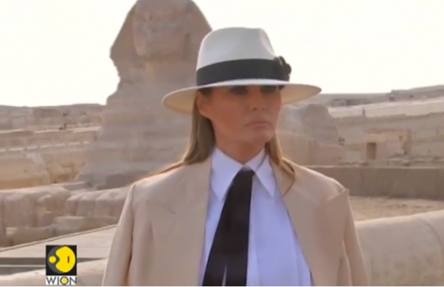 Melania Trump Ends Solo Tour Of Africa At Egypt S Pyramids
