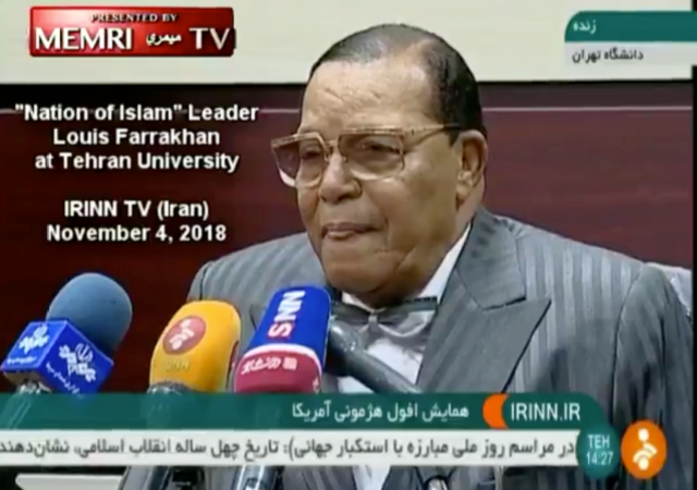 Louis Farrakhan Visits Iran, calls for 'Death to America' and 'Death to Israel'