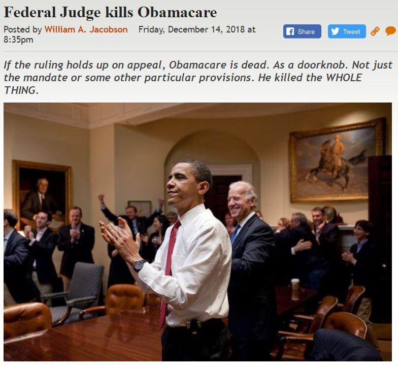 https://legalinsurrection.com/2018/12/federal-judge-kills-obamacare/