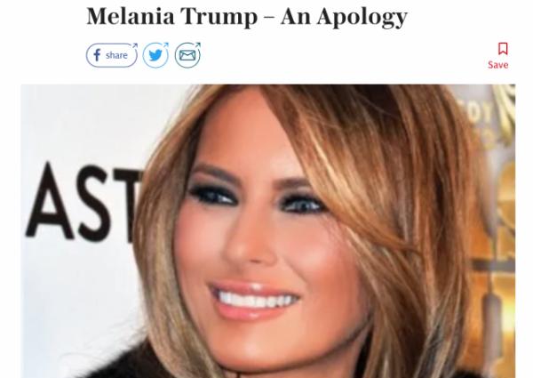 https://www.telegraph.co.uk/news/2019/01/26/melania-trump-apology/