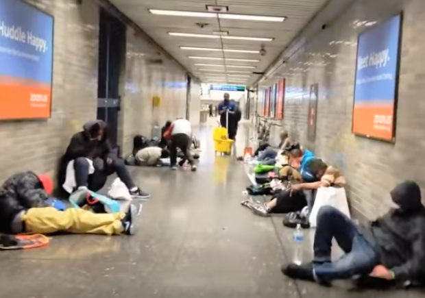 Image result for Images of drug addicts in BART stations""