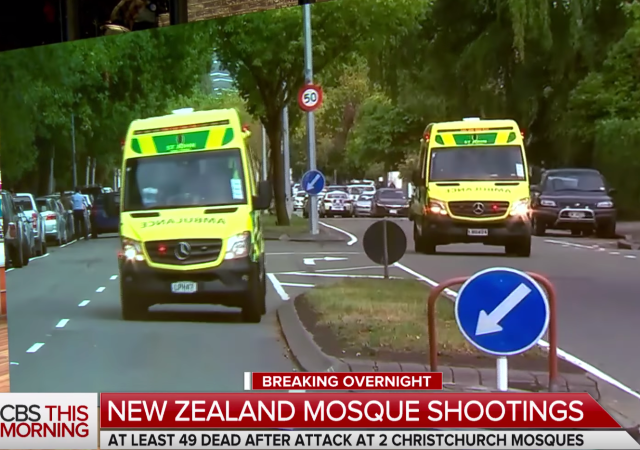 New Zealand Terror Attack Picture: 49 Murdered, 48 Injured At Two Mosques In New Zealand