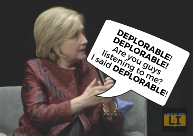 "Hillary Struggles to Maintain Relevancy by Calling Referring to Trump's Presidency as ""Deplorable"""