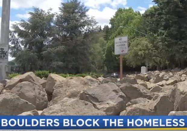 Portland Oregon Using Boulders to Deter Homeless Camps