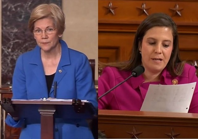 "Compare and Contrast: Media Cheered Elizabeth Warren's ""Persisting"" but Scolded Elise Stefanik's"