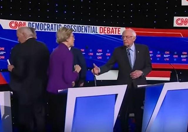Elizabeth Warren Refuses Bernie Post-Debate Handshake as # ...