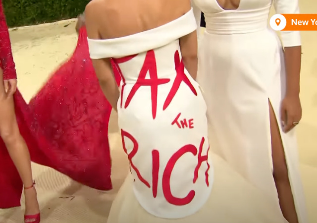 AOC in a 'Tax the Rich' Dress at the Met Gala is One of ...